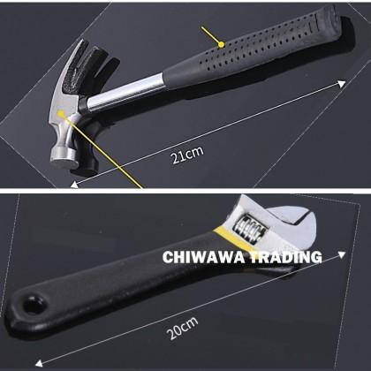 16pcs Hardware Repair Tool Cutter Screwdriver Plier Tape Measure Wrench Hammer
