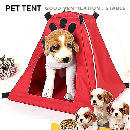 【Large Size】 Pet Dog Cat Tent Foldable Waterproof Home House Bed Ant-catch