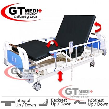 ELT3F GT MEDIT GERMANY Remote Control Double Crank Turn Medical Electric Hospital Nursing Bed Mattress Tilam Katil