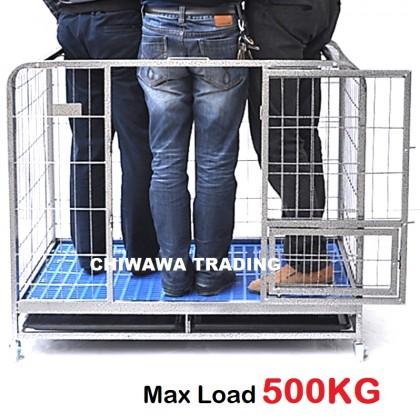 CG2【110 x 72 x 95 cm】Dog Cat Rabbit Cage Pet Crate Cages Animal House Home  Container Rumah Haiwan Sangkar Anjing Kucing