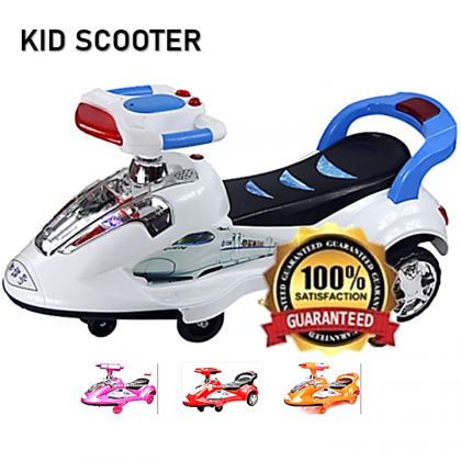 KIDC【Music + LED Light】Kids Scooter Motor Balance Bike Car Riding Toy Bicycle Tricycle Walker Stroller Trolley Carts