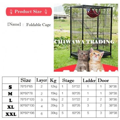 CG3【90 x 60 x 130cm】Pet Dog Cat Rabbit Cage Crate House Home / Rumah Haiwan Anjing Kucing Sangkar