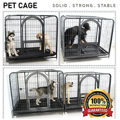 CG2【96 x 64 x 83 cm】Dog Cat Rabbit Cage Pet Crate Cages Animal House Home  Container Rumah Haiwan Sangkar Anjing Kucing