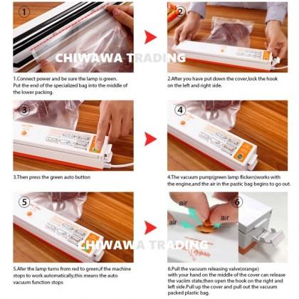 Fresh Pack Pro Home Electric Vacuum Food Plastic Impulse Sealer Packing Machine Packer / Mesin Pengedap Vakum