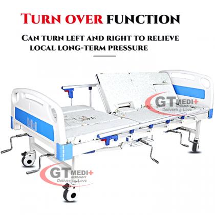 WSS-01 GT MEDIT GERMANY 8 Function Double Crank Turn Medical Hospital Nursing Bed Mattress Infusion Commode Tilam Katil