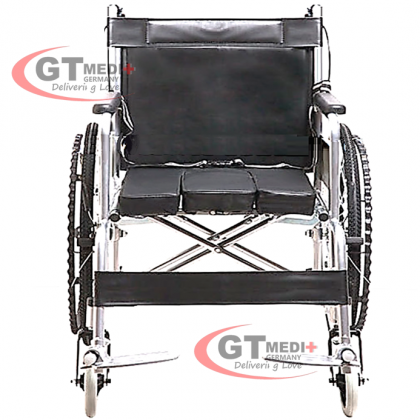 WA-PC-19 GT MEDIT GERMANY Lightweight Self Propelled Commode Toilet Wheelchair Foldable Wheel Chair / Kerusi Roda Ringan