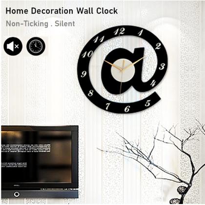 Silent Non-Ticking Modern 3D Alphabet DIY Horloge Wall Clock Home Office Living Room / Jam Dinding