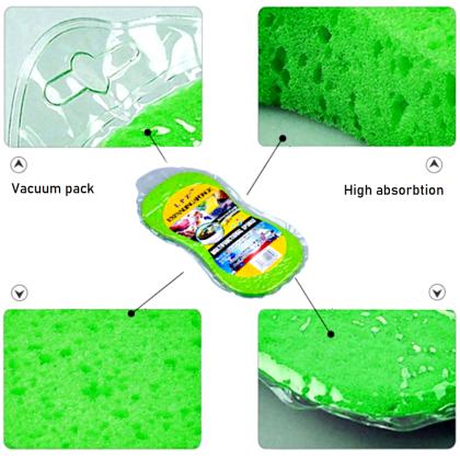 Large Car Wash Cleaning Sponge Vacuum Compressed Pad/ Span Cuci Kereta