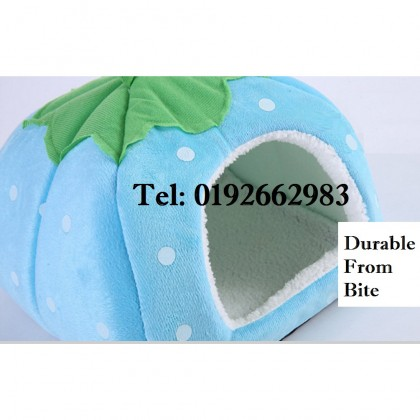 【Large Size】Pet House Strawberry Basket Soft Pet Bed House Dog Cat Supplies