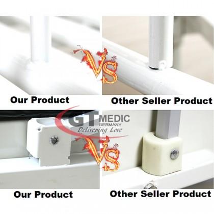 Single Crank 1 Turn Function Medical Home Care Hospital Nursing Bed Dining Table / Tilam Katil + Ripple Air Mattress
