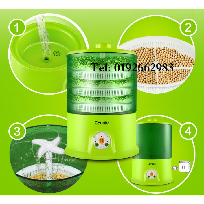 Large Capacity Electric Automatic Bean Sprout Growing Machine Organic Taugeh