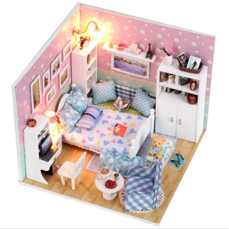 DIY Pink Miniature Sweet Room Love House Best Valentine Gift
