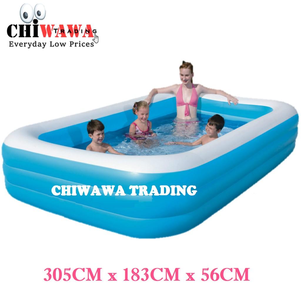 PROMOTION 10184 Inflatable Ring Swimming Pool Safe PVC Bath Basin KOLAM KANAK