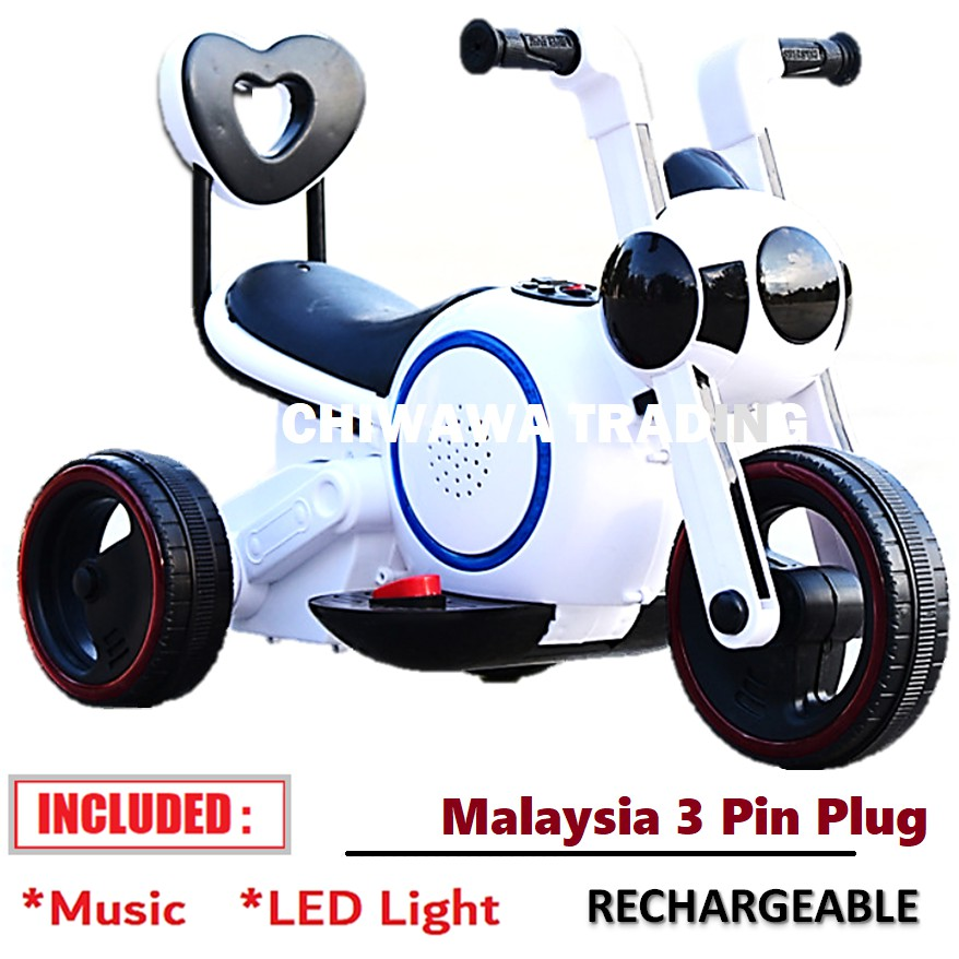KIDJMusic + LED LightRechargeable Electric Kids Scooter Motor Bike Car Riding Toy Bicycle Tricycle Walker Stroller