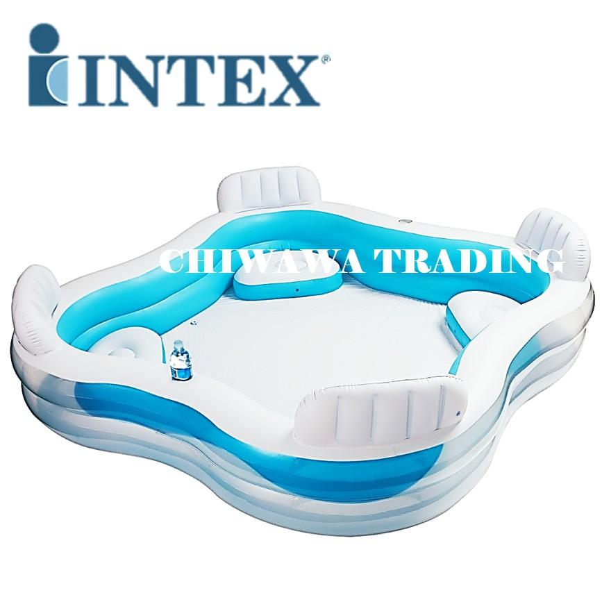 PROMOTION 56475 Inflatable Ring Swimming Pool Safe PVC Bath Basin KOLAM KANAK