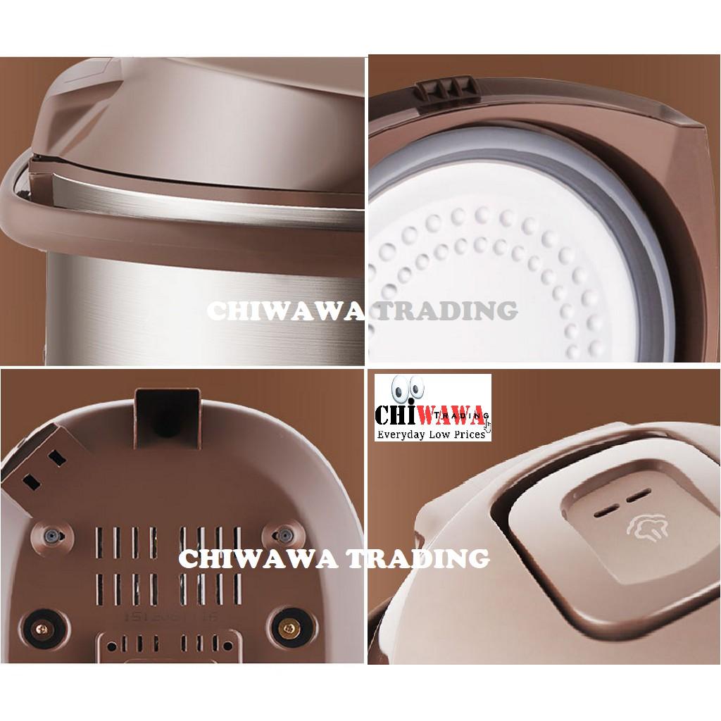 Malaysia 3-pin-PlugMidea4L4000mL Rice cooker Steamer (Brown) + FREE Gift