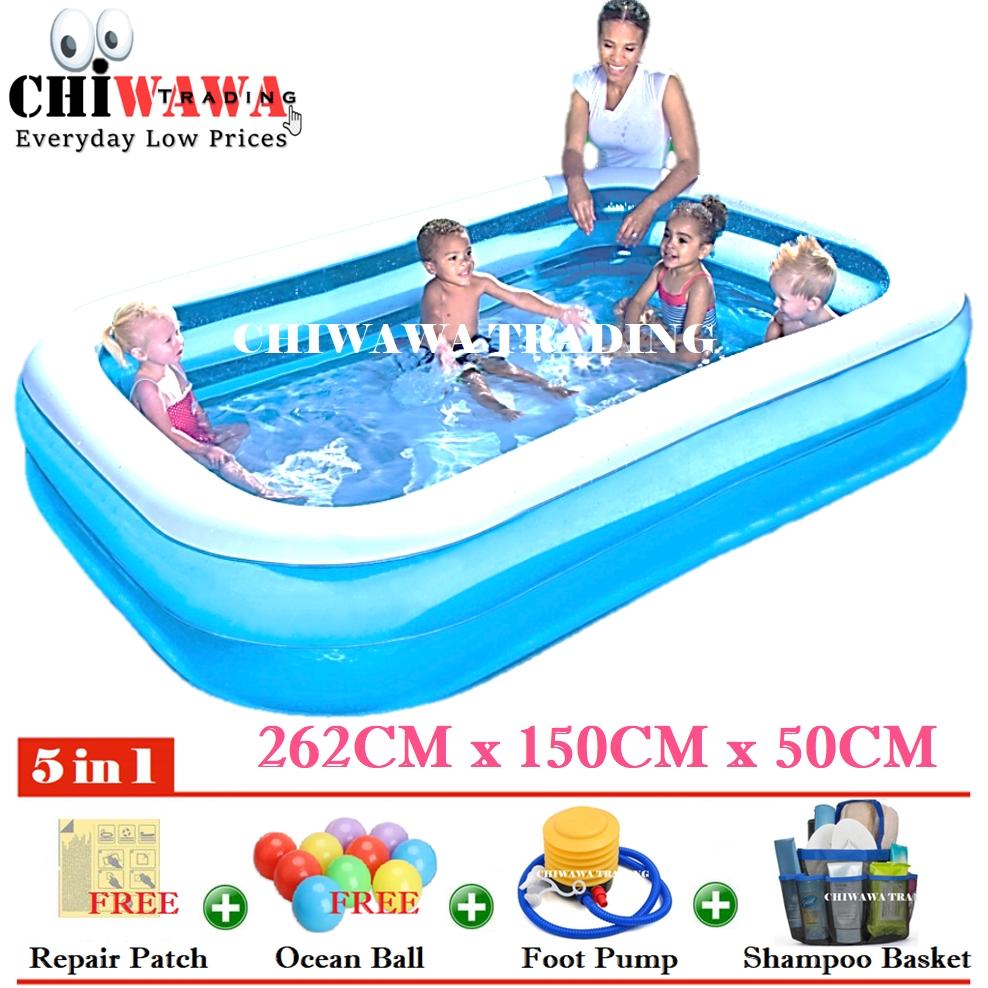 PROMOTION 10291 Inflatable Ring Swimming Pool Safe PVC Bath Basin KOLAM KANAK