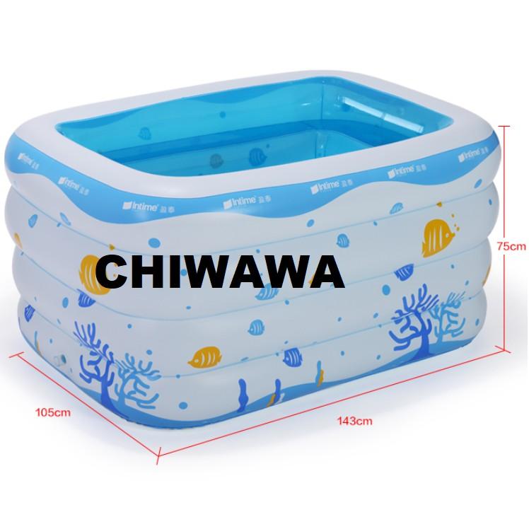 PROMOTION 216A Inflatable Ring Swimming Pool Safe PVC Bath Basin KOLAM KANAK