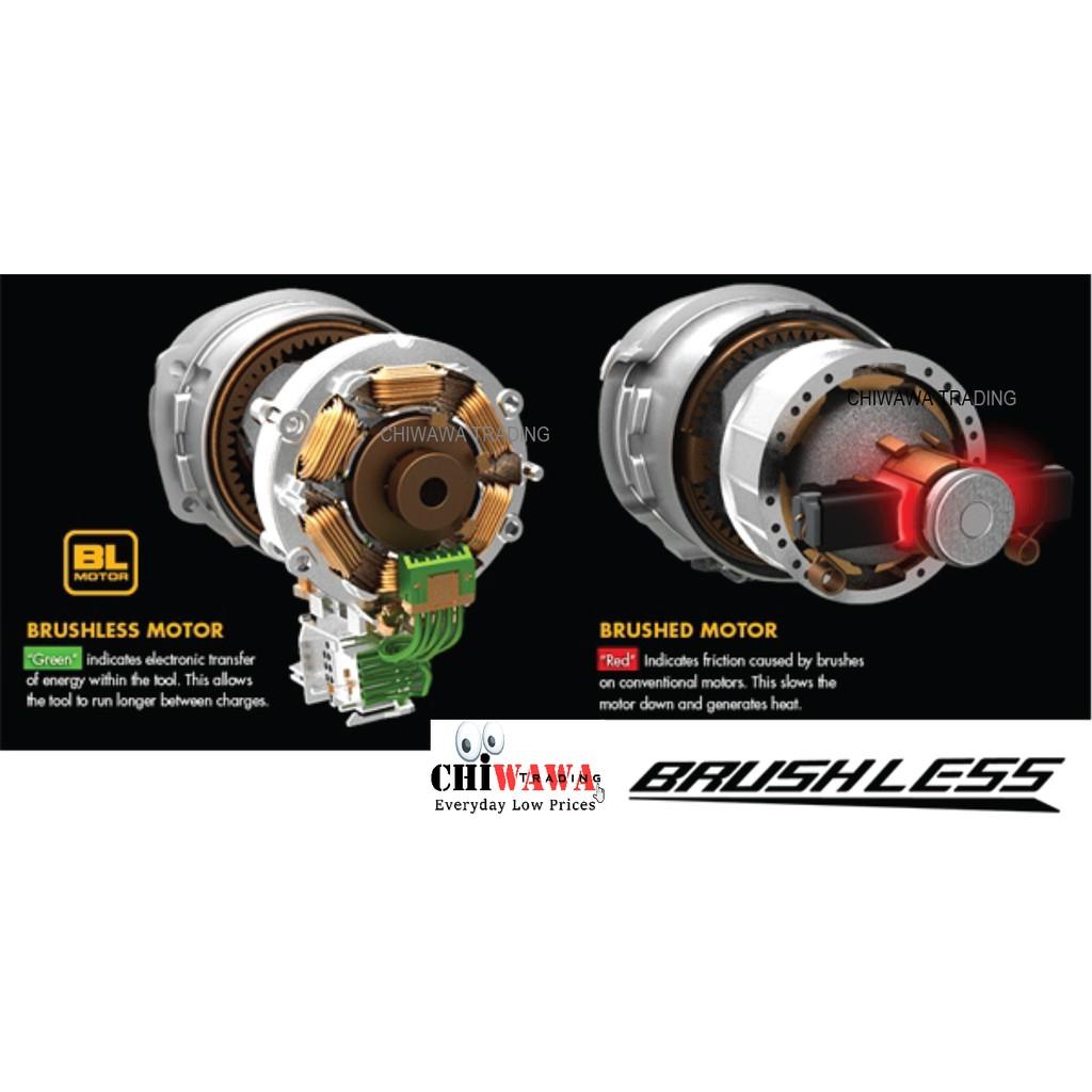 "BOSSMAN 18V Brushless 1/2"" Impact Wrench Li-Ion BDCF880L2 Professional PowerTool"