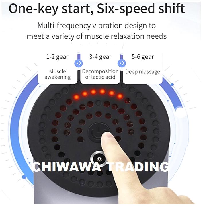 6 Speed Electronic Fascia Gun Dynamic Vibrator Muscle Stimulator Massage Vibrating Deep Relax Therapy Exercise Massager