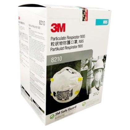 3M N95 8210 Mask original PARTICULATE RESPIRATOR Anti Haze Mask.(1pieces)