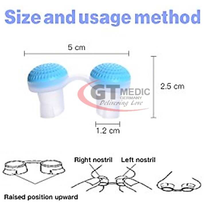2 IN 1 Anti Snoring & Air Purifier Relieve Nasal Congestion Nose Clip Dilators