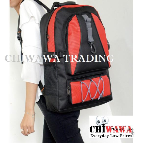 Extra BiggestUnisex Lightweight Waterproof Backpack Laptop BagRed