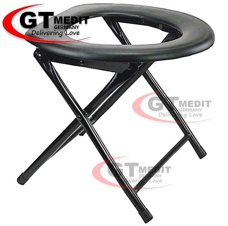 GT MEDIT GERMANY Foldable Aluminium Bath Shower Mobile Potty Toilet Seat Commode Chair / Tandas Kerusi
