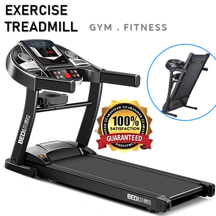 BEDL Exercise Jogging Treadmill Running Gym Lari Machine Home Indoor Fitness Monitor 2.5HP Motorized
