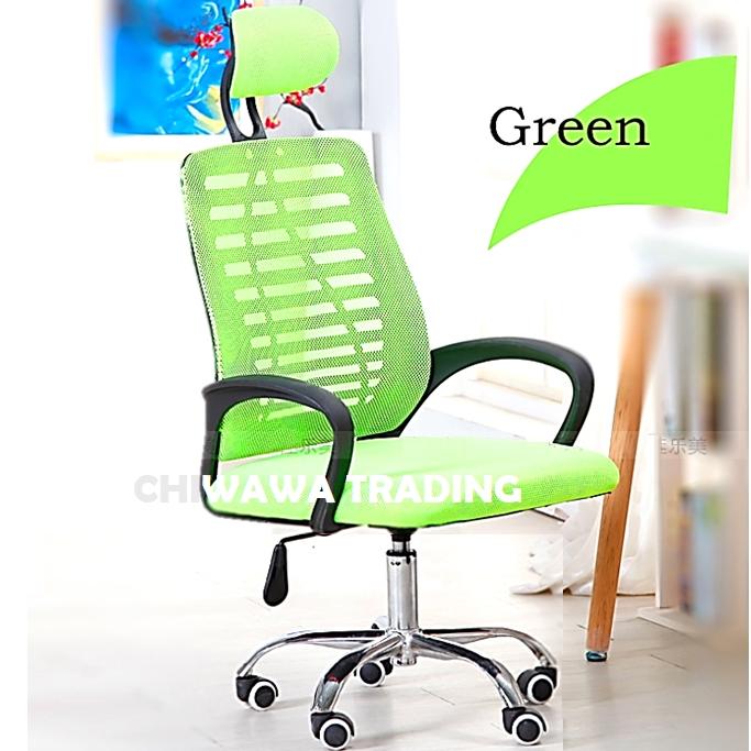 Adjustable Height Mesh Boss Computer Office Chair Ergonomic Comfort Backrest Armrest Headrest Furniture / Kerusi Pejabat
