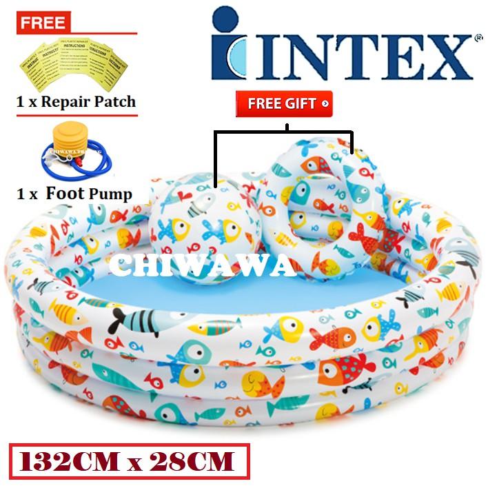PROMOTION 59469 Inflatable Ring Swimming Pool Safe PVC Bath Basin KOLAM KANAK