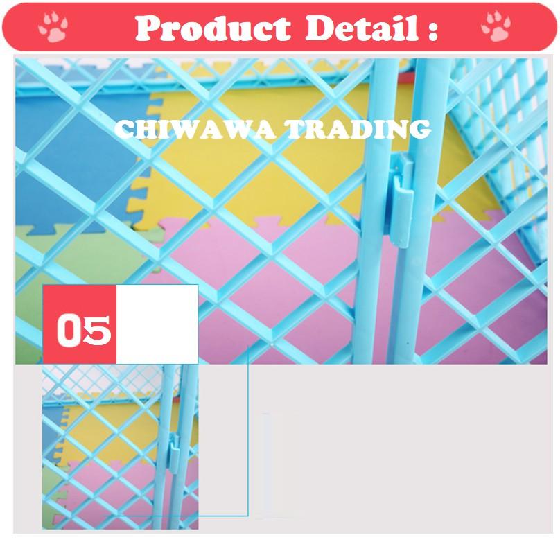 CG4 Pet Dog Cat Rabbit Cage Rumah Anjing Kucing Sangkar + Cushion Bed + Pet Dish