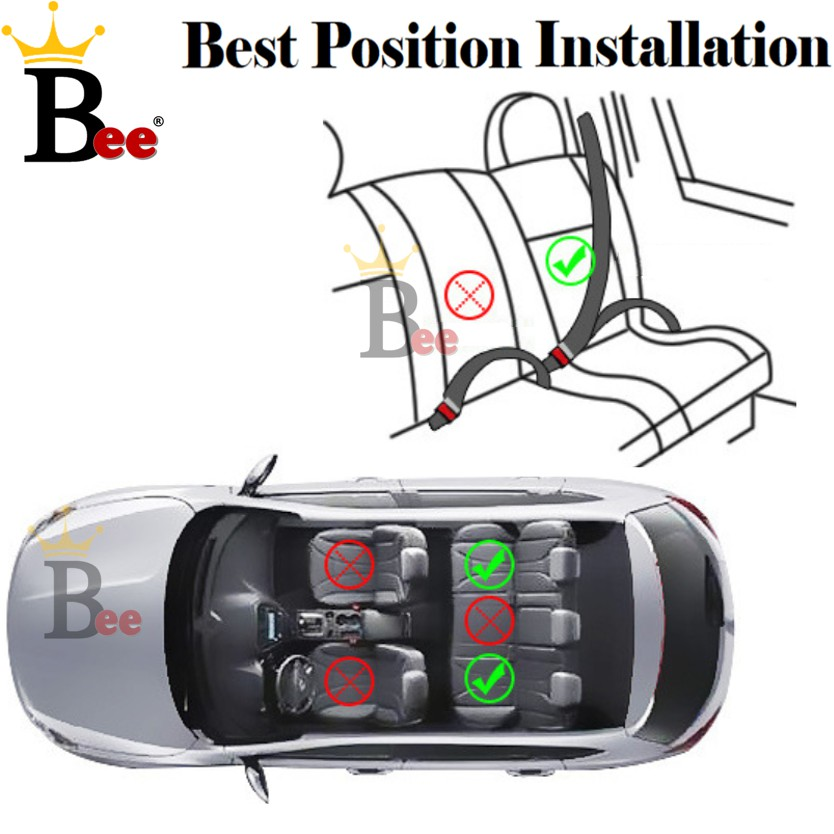 5 Point safety BeltExtra Safe Baby Kid Booster Car Seat Cushion Comfort Padded