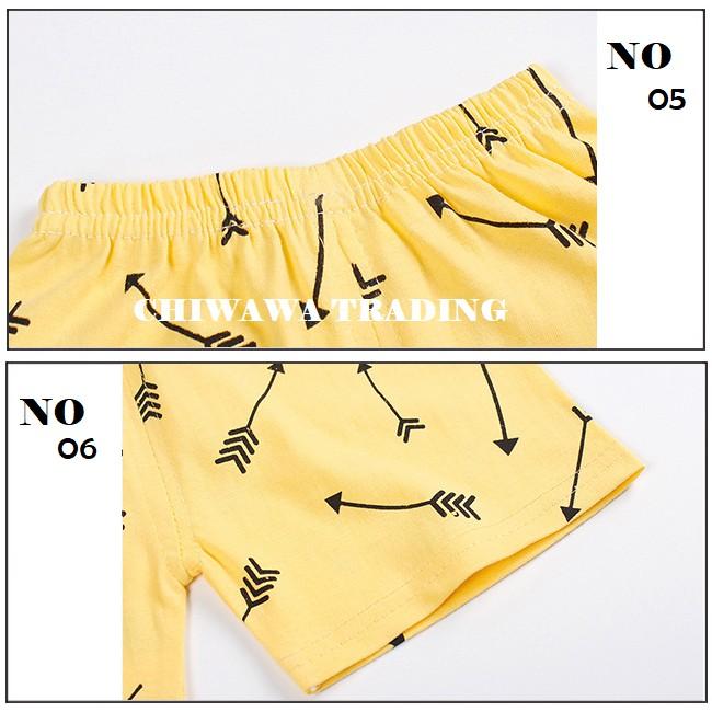 2 Pcs 100% Cotton Kid Clothes Short Sleeve T Shirt Top + Pants Clothing Suit
