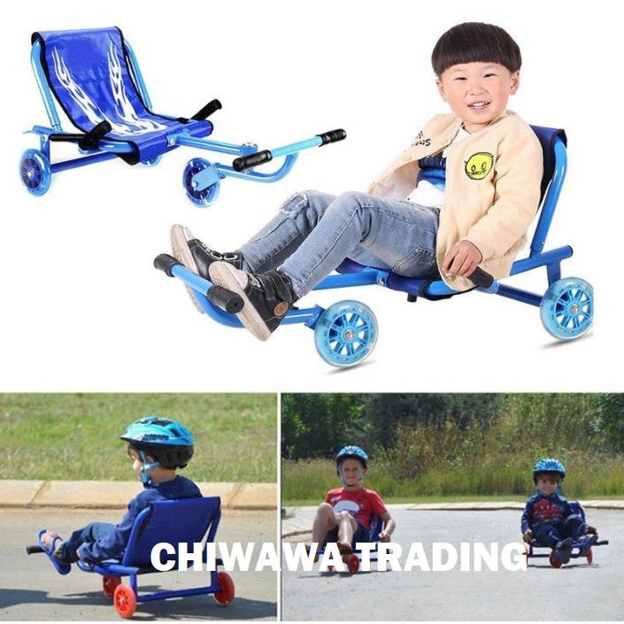 Flashing Wheels Tricycle Ride Scooter Children Drift Foot Twister Swing Car